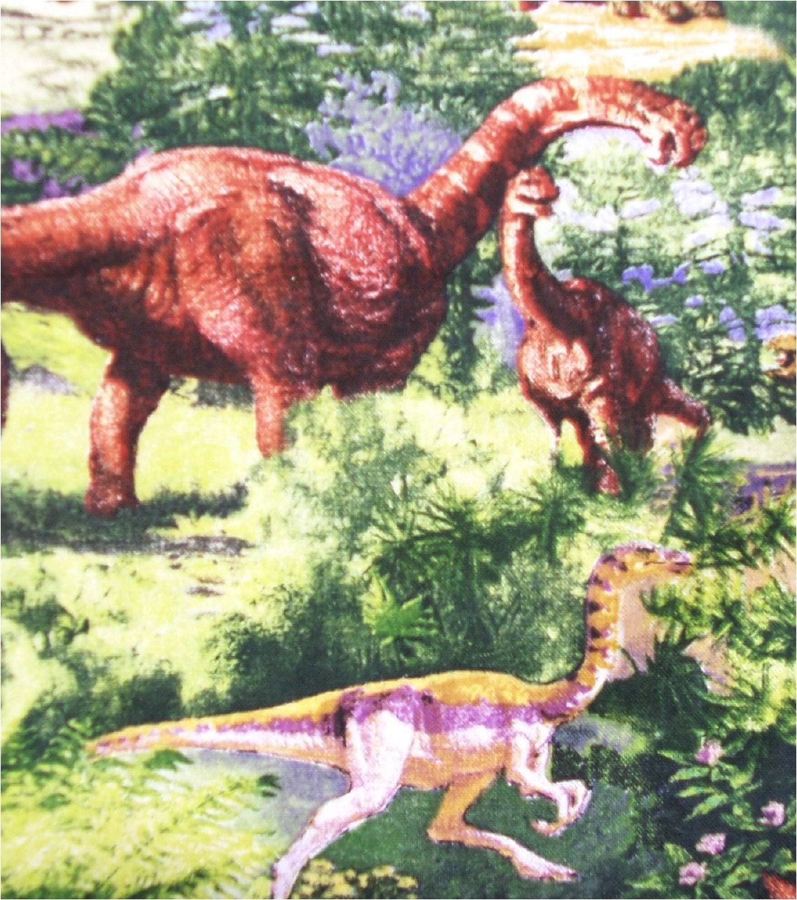 Dinosaur print fabric children kids dinosaur green half for Kids dinosaur fabric