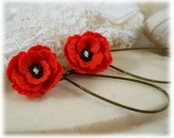 Poppy Lightweight Drop Earrings or Dangle Earrings Style