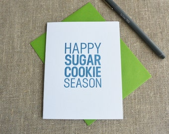 Letterpress Holiday Card - Happy Sugar Cookie Season