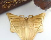 BRASS Egyptian / Art Deco Scarab BUTTERFLY Stamping - Jewelry Findings ~ Brass Stamping (C-404) #