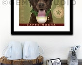 Brown Dog Coffee Company giclee archival signed print  by stephen fowler