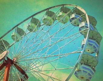 Country Fair Ferris Wheel #3 - Nostalgic Vintage Style Nursery Decor - Original Color Photograph by Suzanne MacCrone Rogers