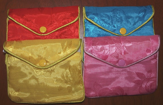 12 Pieces Jewelry POUCH BAG with ZIPPER 4.5x3.5 inches