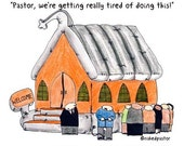 Inflatable Church FINE ART reproduction PRINT