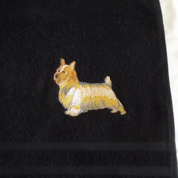Australian Silky Terrier Dog Embroidered Bath Towel Dog Gift