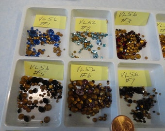 Vintage Swarovski Assorted Colors and Sizes About 1 to 6 mm 100 pcs. VL 56