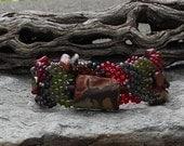Jewelry - Free Form Peyote Stitch Beaded Bracelet  - No Limits - Bead Weaving - Jasper