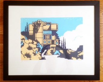 Framed Arcosanti AP Screenprint