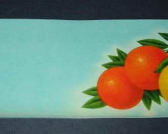 5 Old 1940's Stock Crate LABELS - Orange / Grapefruit / Tomato
