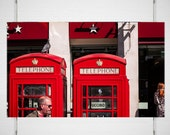 London Photography, Red Phone Box Wall Art, Anglophile Wall Art, US Telephone Booth, British Decor, Martin Parr, Street Photography