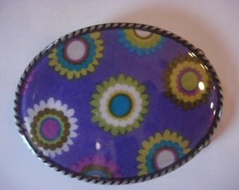 Women's Belt Buckle - Purple Grommets
