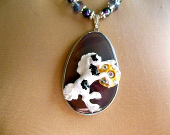 Gypsy Foal Pendant Necklace Polymer & Stone