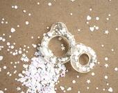 Twiggy Twiggy New White Glitter Pull Ring  PR03-08