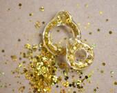 Twiggy Twiggy Gold Glitter Pull Ring  PR03-17