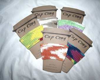 Crocheted Cotton Cup Cozy