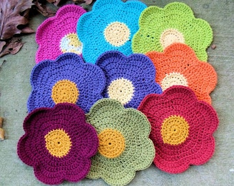 Crocheted Cotton Dish Cloth or Hot Pad