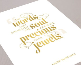 More Precious Than Jewels - Inspirational Typographic Print