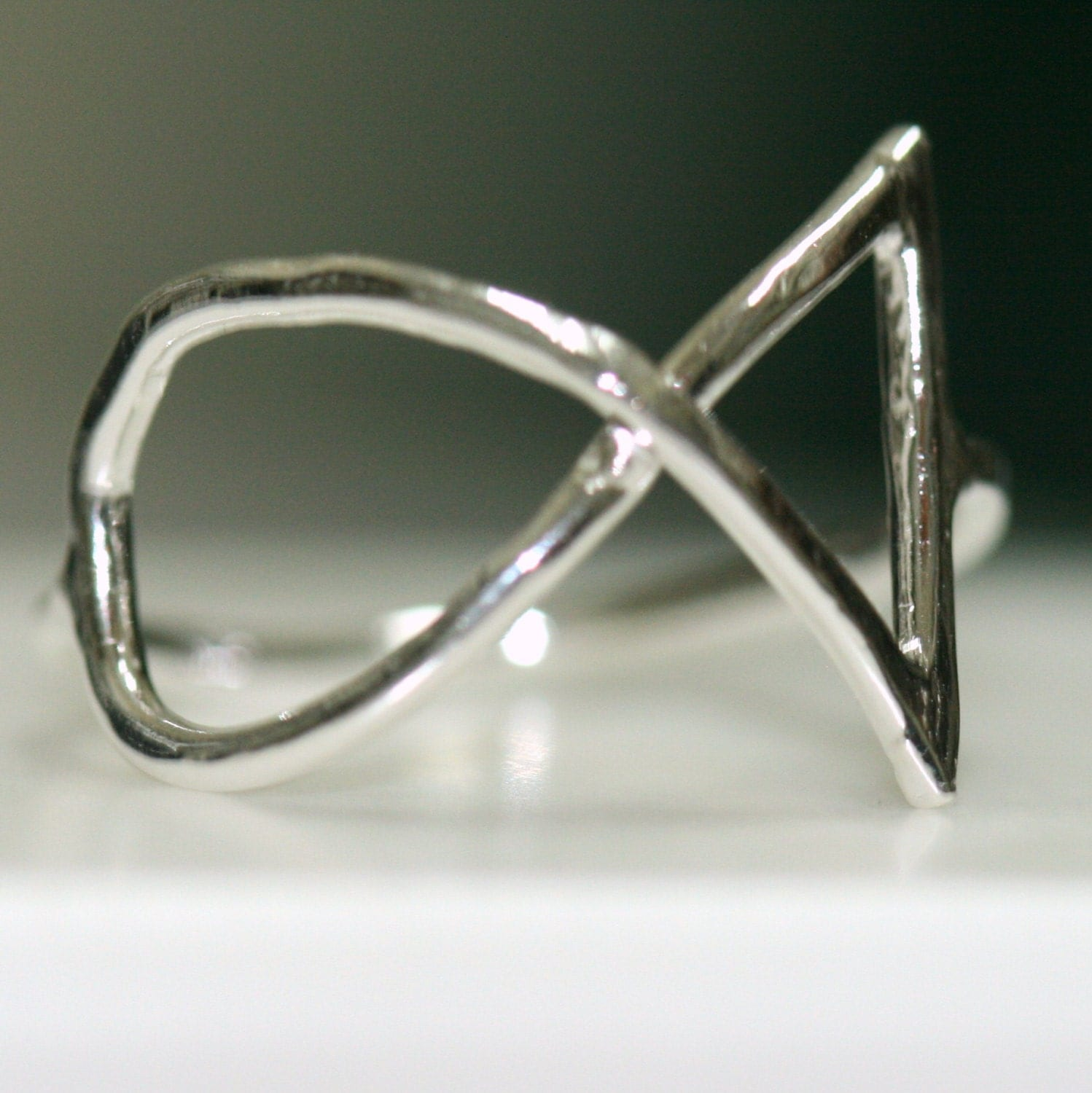 ichthus ring jesus fish ring silver ring size 7