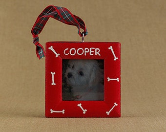 dog bones picture frame ornament