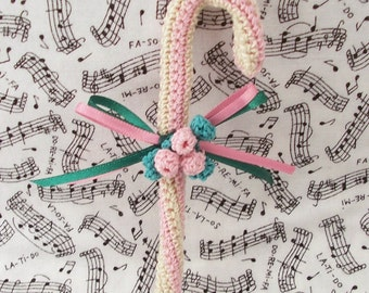 Crocheted Victorian Candy Cane