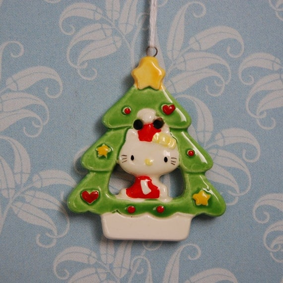 Hello Kitty Inside Christmas Tree Ornament by FeraliaVintage