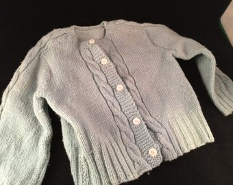 Vintage Baby Blue Boy's Cardigan Sweater