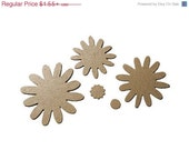 ON SALE Flower Layers Petal Mega Multi Set Die Cuts in Kraft Chipboard or Cardstock (( 655969-b ))