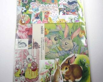 Rabbit or Bunnies Ephemera Pack Vintage Ephemera Pack of 65 Pieces of Rabbits for Altered Art