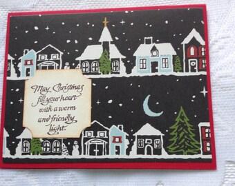 Vintage Style Handmade Christmas Greeting Card