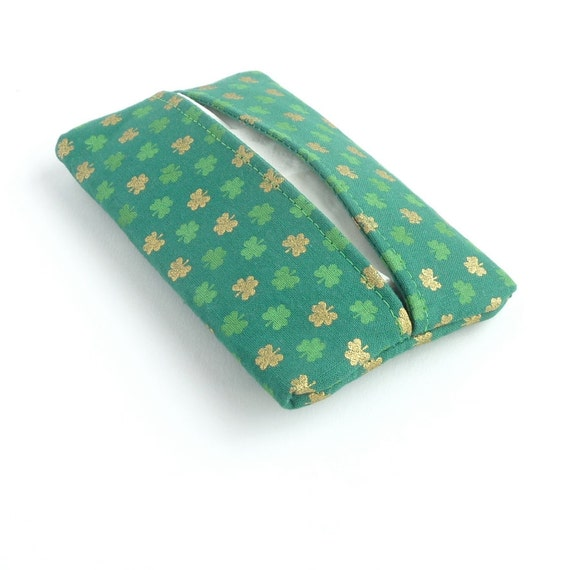 St Patricks Day Kleenex Holder Green Shamrock By