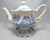 Burton & Burton Blue Toile Teapot