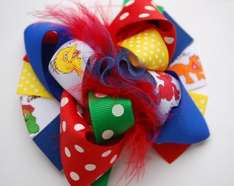 boutique MINI MOD SESAME street hair bow clip
