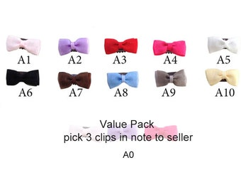 Baby Wispy Clippy, handmade organza baby hair bows for fine hair, baby size