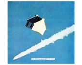 NEW how silent my stay in space has been- giclee print surreal collage art by livingferal