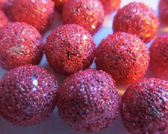 24 Vintage Raspberry Sugar Beads (see item description)