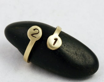 Custom Personalized Number Ring