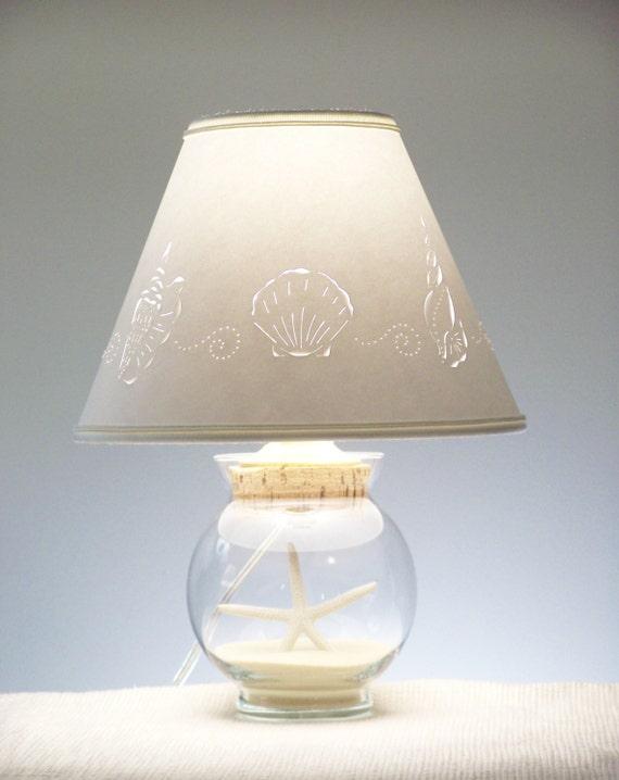 Small Fillable Seashell Lamp Fillable Seashells Add