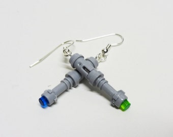 Who Blue and Green Screwdriver Earrings