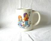 Vintage Mug Child's Mug Children's Mug USA Mug Give A Helping Hand