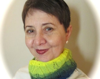 Brilliant Hand-dyed Cowl