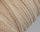 Ivory Gimp, Vintage Natural Ivory Gimp Braided Sewing Trim 1/2 inch wide x 3 yards, Braided Gimp Trim, Conso Brand
