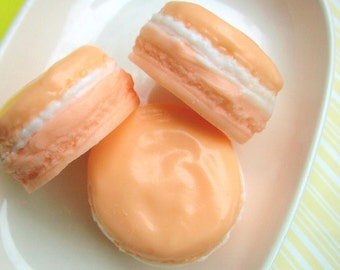 Gift for Mom. Mothers Day. Peach MACARON Soap, French Macarons, Realistic Macaron Soap. Mother Gift. Wife, Aunt, Sister, Grandma