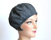 Women's Beret in Vintage Gray Wool - Made to Order - 3 WEEKS FOR SHIPPING