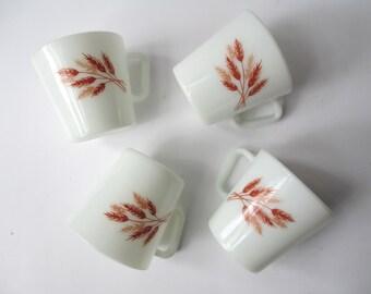 Pyrex Mugs Autumn Harvest Coffee Set of Four - Vintage Chic