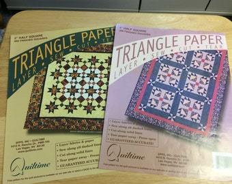 Triangle Paper for Quilting by Quiltime
