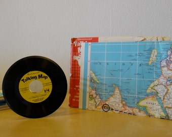 Vintage Hammond Talking Map - Map and 45 r.p.m. Record