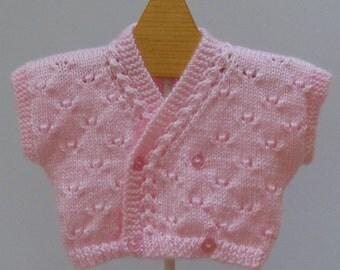 Sweater Baby Girl  Pink Bolero Shrug   3  - 6 months