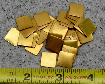 """1/2"""" Brass Square 24 Gauge  Pack of 36"""