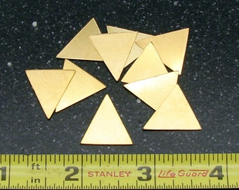 18.7 x 18.5mm Brass Triangle 24 Gauge  Pack of 10