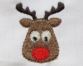 INSTANT DOWNLOAD Mini Embroidery and outline Rudolph designs
